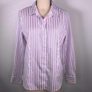 Talbots Striped Sateen Shirt